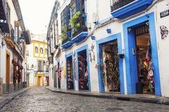 Gator av den gamla staden Cordoba Arkivbild