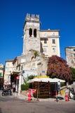 Gator av den gamla staden Kerkyra (Korfu), Korfu ö, Grekland Arkivfoton