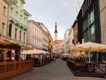 Gator av den gamla staden Tallinn Royaltyfri Bild