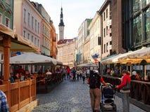 Gator av den gamla staden Tallinn. Royaltyfri Foto