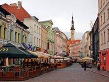 Gator av den gamla staden Tallinn Arkivbild