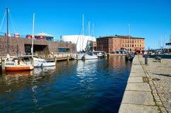 Gator av den historiska mitten Stralsund arkivfoton