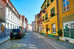 Gator av den historiska mitten Stralsund royaltyfri bild