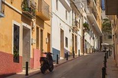 Gator av den lilla gamla staden Arkivfoton