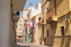 Gator av den lilla gamla staden Arkivbilder