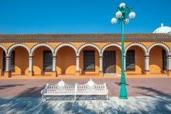 Gator av den mexikanska koloniala staden Tlacotalpan, UNESCOvärld Herit arkivfoto