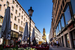 Gator av den Munich mitten Arkivbild