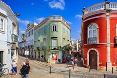 Gator av den Tavira staden Royaltyfria Bilder