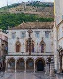 Gator av Dubrovnik den gamla staden royaltyfria foton