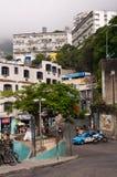 Gator av Favela Vidigal i Rio de Janeiro arkivbild