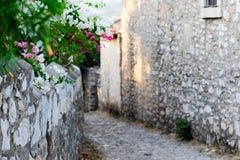 Gator av gamla Datca Arkivfoto