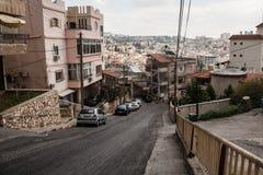 Gator av gamla Nazareth fotografering för bildbyråer