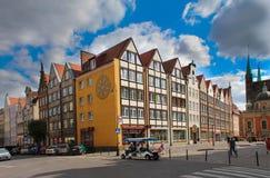 Gator av Gdansk, Polen Arkivfoto