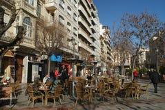 Gator av Granada, Spanien arkivbilder