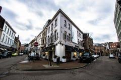 Gator av Hasselt, Belgien Arkivbilder