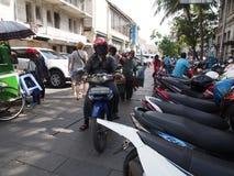 Gator av Jakarta Arkivbilder
