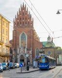Gator av Krakow royaltyfri foto