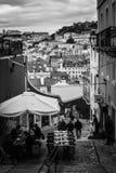 Gator av Lisbon Royaltyfri Fotografi