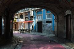 Gator av Lisbon Arkivbild