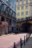 Gator av Lisbon Royaltyfri Bild