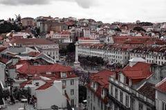 Gator av Lisbon Rossio Royaltyfria Bilder