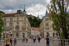 Gator av Ljubljana Royaltyfri Foto