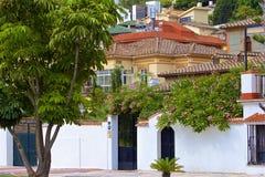 Gator av Malaga, Spanien arkivfoton