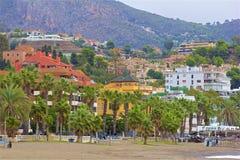 Gator av Malaga, Spanien royaltyfria bilder