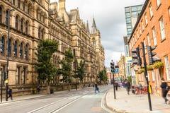 Gator av Manchester arkivbild