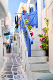Gator av Mykonos Royaltyfri Fotografi