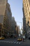 Gator av New York City, Manhattan Arkivbilder