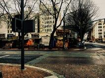Gator av Portland Fotografering för Bildbyråer