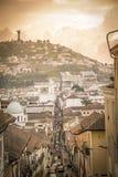 Gator av Quito, Ecuador Fotografering för Bildbyråer