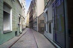 Gator av Riga den gamla staden arkivfoton