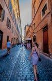 Gator av Rome Royaltyfri Bild
