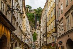 Gator av Salzburg Arkivfoto