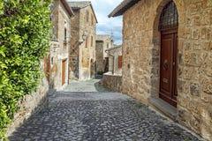 Gator av staden Orvieto, Italien, Toscana Royaltyfria Bilder