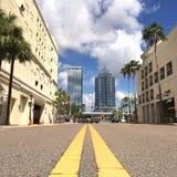 Gator av Tampa, Florida, USA arkivfoton