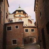 Gator av Treviso royaltyfria foton