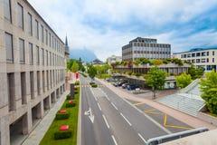 Gator av Vaduz, från Liechtenstein huvudstad Royaltyfria Foton
