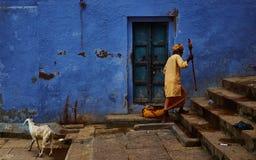 Gator av Varanasi Arkivfoto
