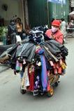 Gator av Vietnam - klädsäljare Royaltyfria Bilder