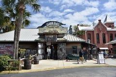 Gator Bob Handlarskiej poczty miasteczka Stary St Augustine, Floryda fotografia royalty free