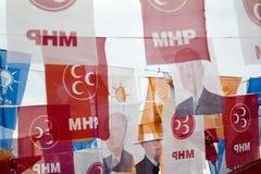 Gator för Turkiet ` s i kommande val Arkivbild