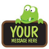 Gator holding sign Royalty Free Stock Image