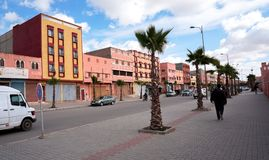 Gator i Biougra, Agadir, Marocko royaltyfria bilder