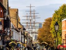 Gator i den Greenwich byn London Royaltyfri Fotografi