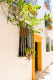 Gator i en vitby av Andalucia, sydliga Spanien Royaltyfri Fotografi