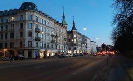Gator i Köpenhamn royaltyfria bilder