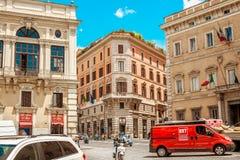 Gator i rome Arkivfoto